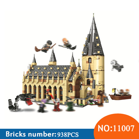 BELA 11007 Harry Potter Serices Hogwarts Great Hall Compatibility 75954 Harry Potter Building Blocks Bricks Toys For Children