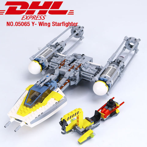 05065 Star Wars Series The Y-wing Starfighter Set Building Blocks Bricks children's day birthday Gift Compatible with lego 75172
