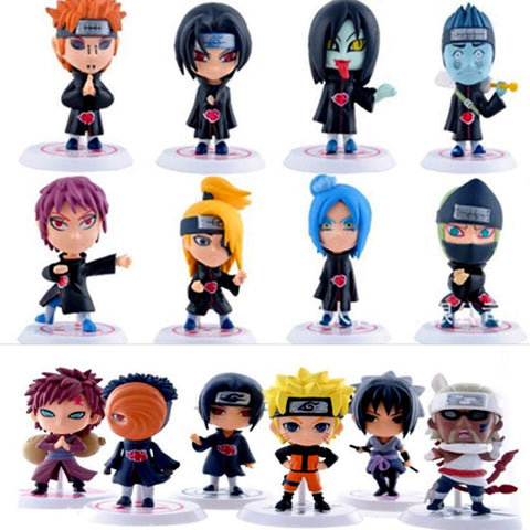 1 pcs Cute Naruto Action Figure Sasuke Kakashi Cartoon Ninja Group PVC Model Anime Collection Figure High Quality Kid Gift Toy