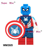 20pcs Deadpool Spider Man Venom vs Carnage Jesse Quick Ninja Figures building blocks bricks classic learning education baby toy