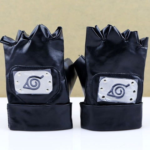 Anime NarutoHatake Kakashi Gloves Ninja Gloves Kakashi Mittens Cosplay Accessories Party Halloween Accessory Props
