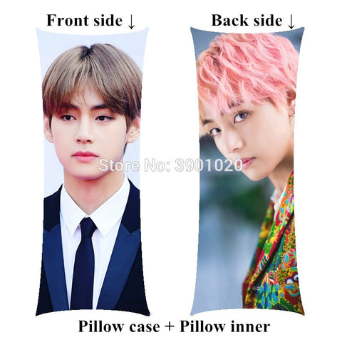 Kpop BTS V Bangtan Boys hugging body Pillows include inner Kim Tae Hyung home soft long pillow customize birthday gift