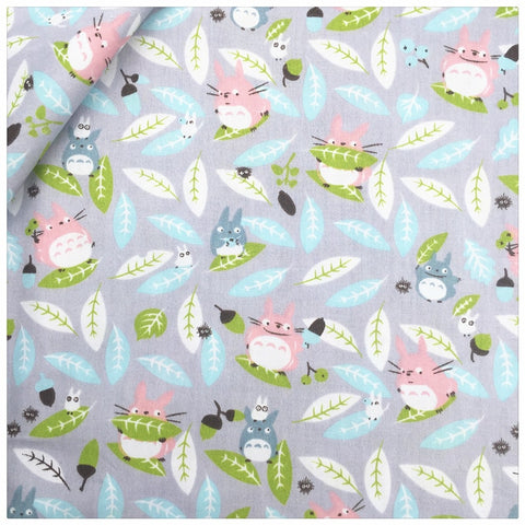100% Cotton Fabric Gray Totoro Home Textile Patchwork Quilting Diy Sewing Kids Cloth Craft Bedding Decoration Fabrics Tissue