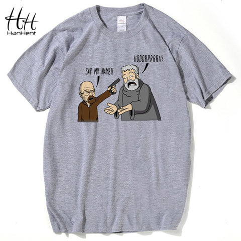 b0af12a4680b Breaking Bad Game of Thrones T Shirts Men Hodor Heisenberg Casual Man T- Shirts Cotton