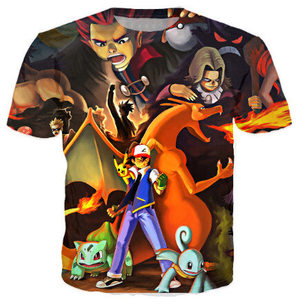 2015 Summer New 3D t shirt for women men unisex t shirt cute cartoon pokemon pikachu tshirt anime casual top tees t-shirt - Animetee