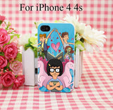 Bobs Burgers Tina Belcher Hard White Cover Case for iPhone 4 4s 5 5s 5c 6 6s Protect Phone Cases - Animetee - 2