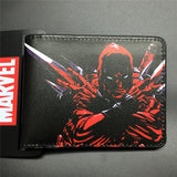2016 New Arrival Full PU Marvel Purse Deadpool Spiderman Punisher Cartoon Short Wallets With Card Holder Free Dollar Price - Animetee - 9