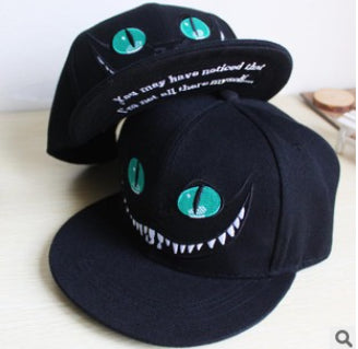Chelshire Cat Alice in Wonderland Closeup Grinn Baseballl Hip hop Fashion Cap Hat - Animetee
