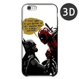 2016 Hot Selling 3D Super Cool Marvel Hero Deadpool Coque Fundas Black Soft Silicone Case For iPhone 5 5S 6 6S 6Plus Cover Case - Animetee - 2