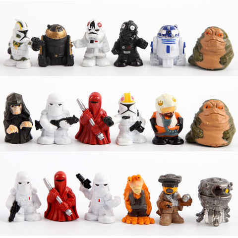 18 Piece Set 2.5 CM Star Wars Mini PVC Action Figures Collectible Model Toys - Animetee