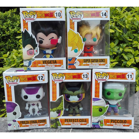 2015new Dragon Ball Z Funko POP Super Saiyan Son goku Vegeta Cell Piccolo Frieza PVC Action Figure Model DragonBall Toy Gift dbz - Animetee - 1