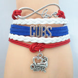 Custom Made Infinite Love Chicago CUBS baseball team colors Bracelet - Animetee - 4