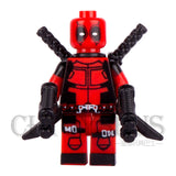 Single  Deadpool Wade T. Wilson Wolverine with Swords Guns AVENGERS Minifigures Model DIY Building Blocks Kids Toy Gift - Animetee - 1