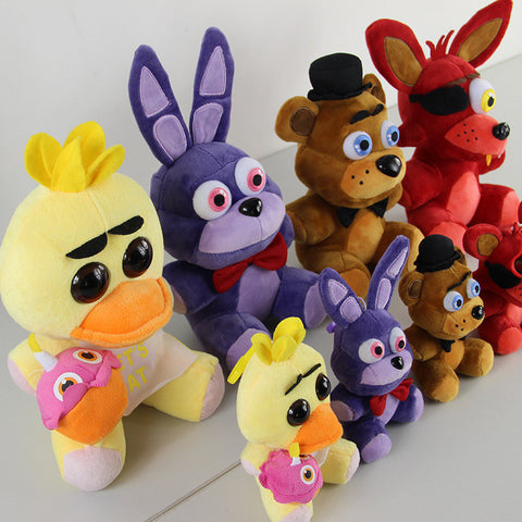 Five Nights at Freddy's 4 Bear Chica Foxy Bonnie Fnaf Wolrd Freddy Fazbear Plush Stuffed Animal Doll - Animetee - 1