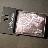 New PU Leather Wallet Game of Thrones Short Wallets With Card Holder Men And Women Purse Cartoon Wallet Dollar Price - Animetee - 1