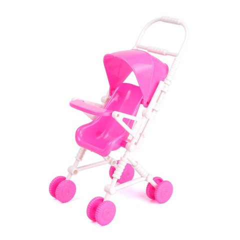 Baby Stroller for Barbie Accessories toys Furniture doll Pink Girl - Animetee