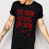 Game Of Thrones T Shirt Winter Is Coming You Know Nothing TShirts MEN Jon Snow Print Men T-Shirt O Neck Cotton Man Tees - Animetee - 1