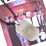Korean Pop Kpop Boy Band BTS Bangtan Boys Titanium Steel Necklace Jewelry Pendant JUNG KOOK JIMIN V SUGA JHOPE - Animetee - 2