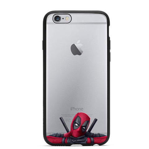 2016 Hot Selling 3D Super Cool Marvel Hero Deadpool Coque Fundas Black Soft Silicone Case For iPhone 5 5S 6 6S 6Plus Cover Case - Animetee - 5