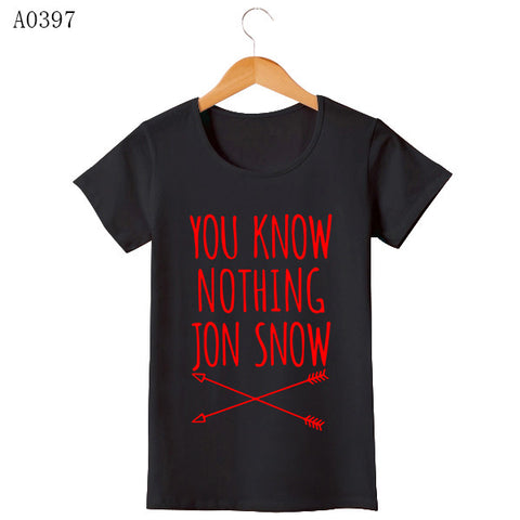 Game Of Thrones T Shirt Winter Is Coming You Know Nothing TShirts MEN Jon Snow Print Men T-Shirt O Neck Cotton Man Tees - Animetee - 7