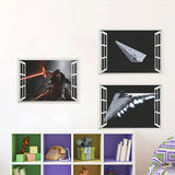 2016 Movie Star war spacecraft Fake windows wall stickers kids room decor boy's gift diy wall decals mural posters - Animetee - 1