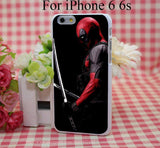Movie Deadpool Hard White Cover Case for iPhone 4 4s 5 5s 5c 6 6s Protect Phone Cases - Animetee - 5