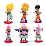 6pcs Dragon ball Z Kai Action Figure Son Gokou Gohan Goten Buu Ubu Budokai PVC Model Japanese Anime Figure Dragonball Z Kai Toy - Animetee - 1