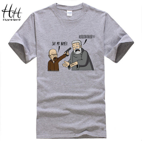 474870a295 HanHent Game of Thrones Breaking Bad T Shirts Men Hodor funny Man T-Shirts  Cotton