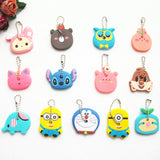 Anime Manga Lilo Stitch Despicable Minion Doraemon Owl Bear 2 Piece lot Key Cover keychain Holder - Animetee - 1