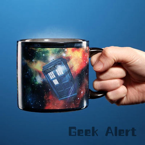 1Piece Doctor Who Disappearing Tardis Police Box Heat Changing Coffee mug Magic Cup Dr Mysterious - Animetee