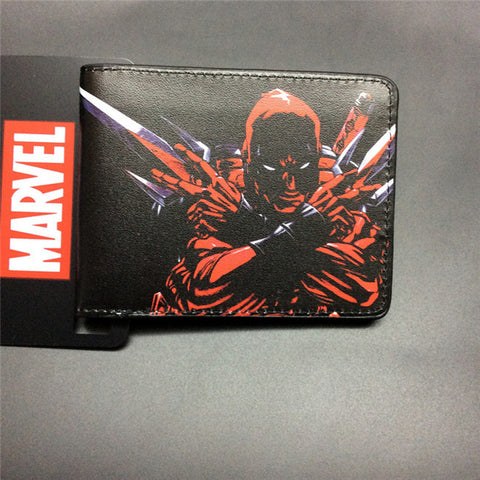 2016 New Arrive PVC and PU Leather Purse American Marvel Comic Deadpool Wallet With Card Holder Dollar Price Free Shipping - Animetee - 14