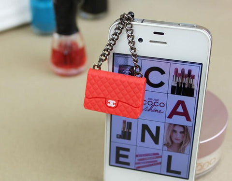 Korean Style Cell Phone 3.5mm Earphone Cap Designer Bag Coco Chanel Iphone Samsung Galaxy HTC Trendy Hot - Animetee