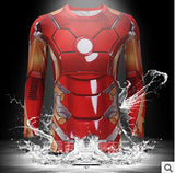 2016 Marvel Avengers Captain America 2 winter soldier deadpool Costume 3d Superhero T shirt Men Long sleeves Sport tshirt homme - Animetee - 12