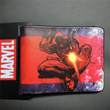 2016 New Arrival Full PU Marvel Purse Deadpool Spiderman Punisher Cartoon Short Wallets With Card Holder Free Dollar Price - Animetee - 2