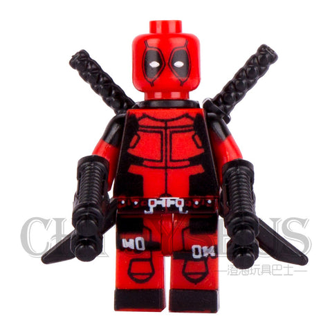 Single  Deadpool Wade T. Wilson Wolverine with Swords Guns AVENGERS Minifigures Model DIY Building Blocks Kids Toy Gift - Animetee - 3