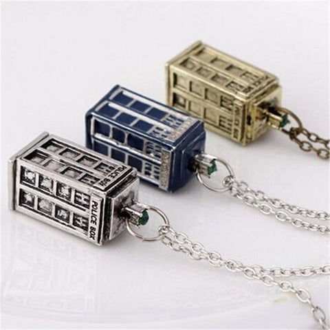 Dr. Mysterious House Necklace Doctor Who Pendant  Necklace XL - Animetee