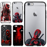 2016 Hot Selling 3D Super Cool Marvel Hero Deadpool Coque Fundas Black Soft Silicone Case For iPhone 5 5S 6 6S 6Plus Cover Case - Animetee - 1