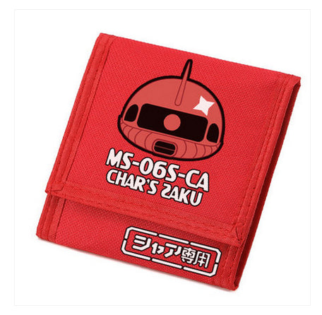 UP TO 2016 NEW WALLET GUNDAM SURROUNDING OXFORD WENGGONG GUO JI ZAKU ROBOT 12 * 12 * 2CM LARGE CAPACITY THREE FOLD WALLET - Animetee - 3