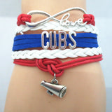 Custom Made Infinite Love Chicago CUBS baseball team colors Bracelet - Animetee - 5