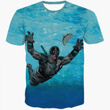 Funny Nirvana parody Dead pool Deadpool diving for Taco Tee T-Shirt All over Print - Animetee - 1