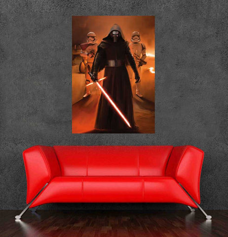 2015 movie star wars poster wall sticker for bedroom decor 90x60cm,36x24inch free shipping - Animetee