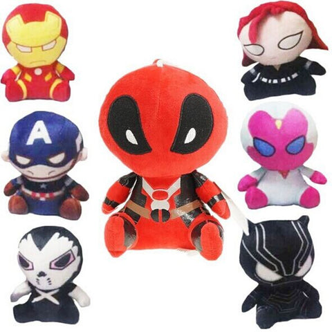 18cm Marvel The Avengers Deadpool Plush Toys Iron Man Captain America Hulk Batman Stuffed Plush Dolls Kids Gift - Animetee - 1