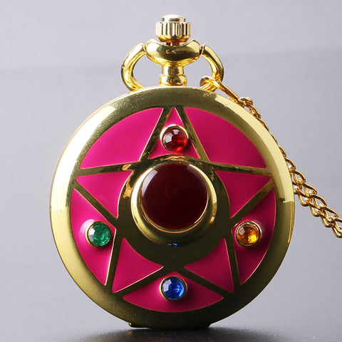 New Fashion Colorful Famous Anime Sailor Moon Series Women Lady Girl Quartz Pocket Watch P383-4 - Animetee - 2