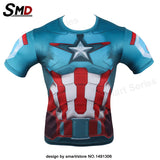 Marvel Comic Marvel's Deadpool Dead pool Compression T-Shirt Excercise Fit Tight Gym Civil War Costume - Animetee - 18