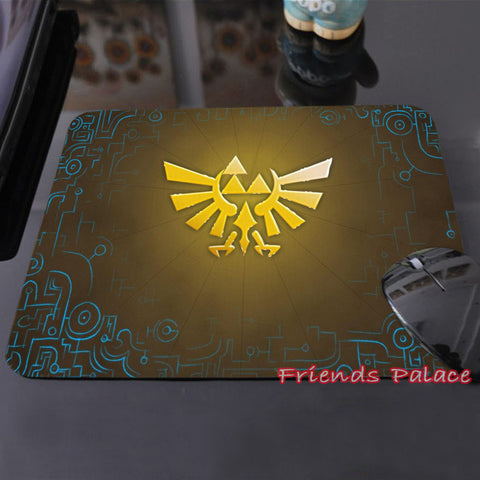 Legend of Zelda Triforce logo Emblem Mousepad Mouse Pad - Animetee - 6