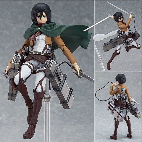 "Attack on Titan Mikasa Ackerman 6"" PVC Action Figure Collectible Model Doll Toy For Kids - Animetee"