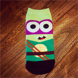 South Park Style Captain America Batman Ironman TMNT Ninja turtles Bruce Lee Socks - Animetee - 3