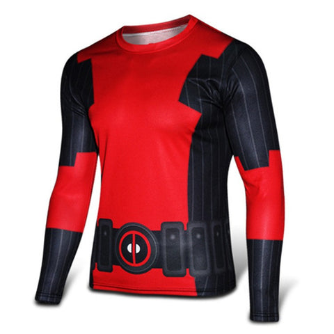 2016 Marvel Avengers Captain America 2 winter soldier deadpool Costume 3d Superhero T shirt Men Long sleeves Sport tshirt homme - Animetee - 1