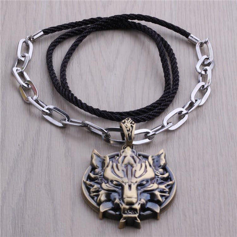 Hot game final fantasy 7 vii ff cool wolf head animation necklace hot game final fantasy 7 vii ff cool wolf head animation necklace punk style metal pendant mozeypictures Images