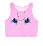 Pikachu AA style Bustier Crop Top Sexy Sport Camisole Women's Squirtle  3D Bulbasaur Pokemon cartoon Print cropped - Animetee - 5